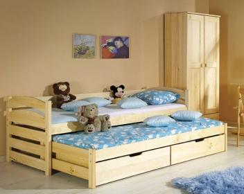 49bb01dd3df4 Detská jednolôžková posteľ s prístelkou Raul - Nábytok Poprad